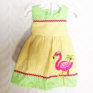 Rare Editions Dress 2-Piece Outfit Yellow Pink 18m